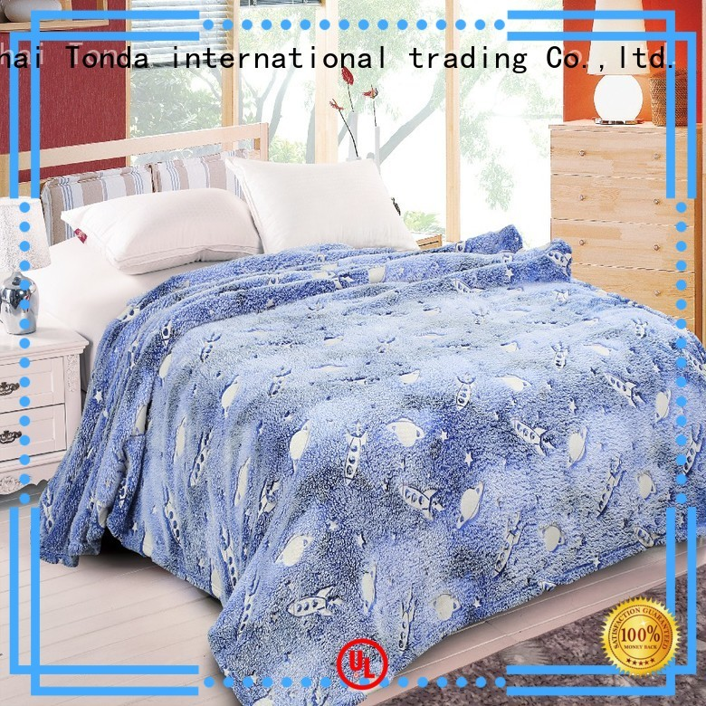 TONDA light grey fleece throw manufacturers for sofa use