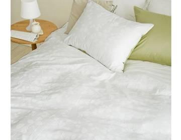 韩国进口thehuuz纯棉水洗布加棉被套3件套 树叶形图案 双人 多色 被套1个,枕套2个