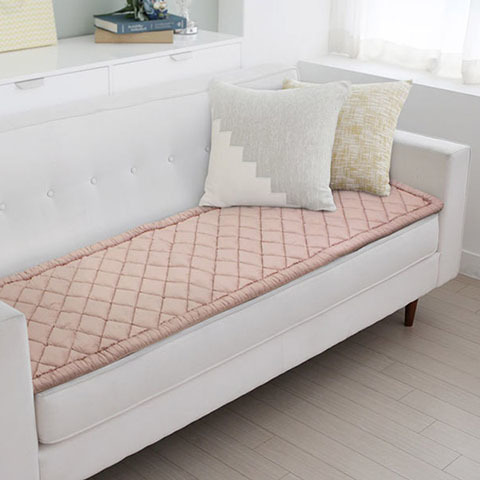 Quilted Sofa Pads as Protector and Home Decoration