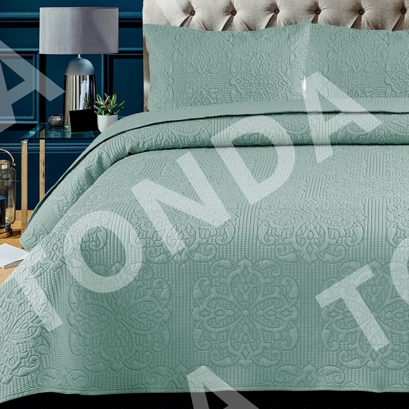 Ultrasonic quilt pinsonic bedspread Solid color Vintage elegance Style