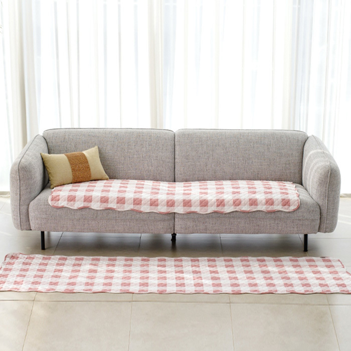 Polyester Mat & Sofa Cushion cover Microfiber & dot Bottom