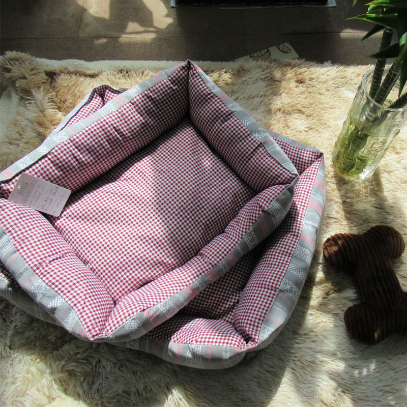 Non-fluffy Printed Comfy Dog Bed Filling with PP cotton