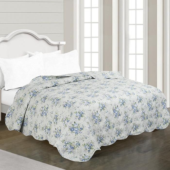 Ultrasonic Printed Quilt Microfiber Bedspreads Comforters