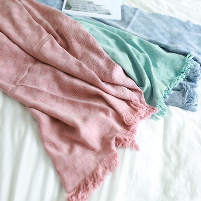 Cotton Jacquard Blanket stylish appearance