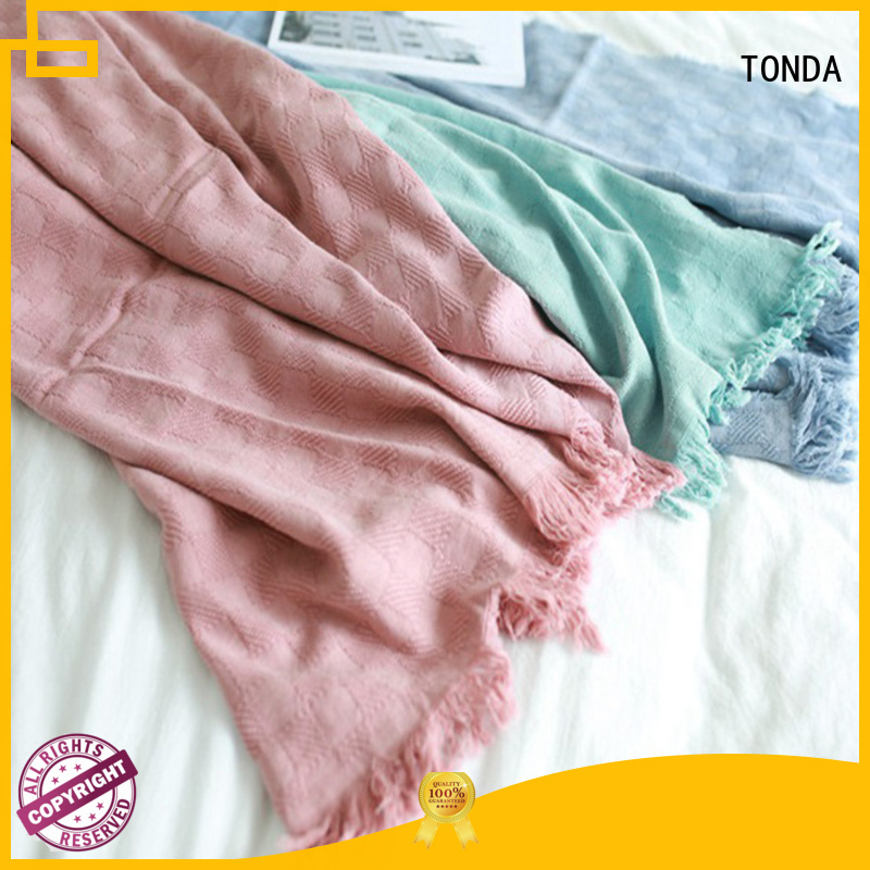 TONDA Top gray fuzzy blanket factory for bed use