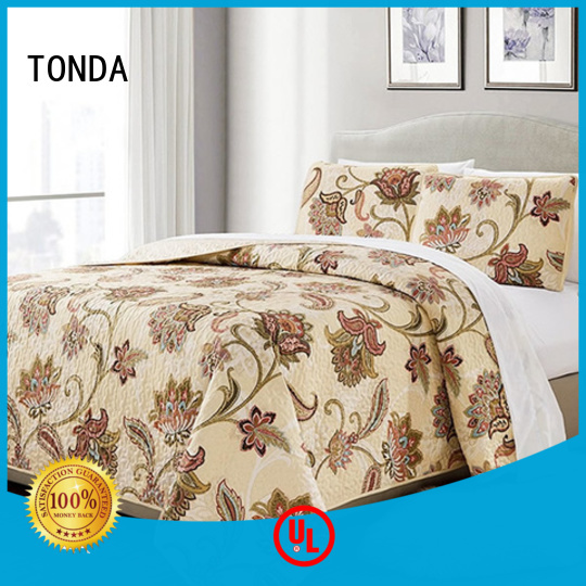 TONDA Wholesale maroon quilted bedspread factory for home