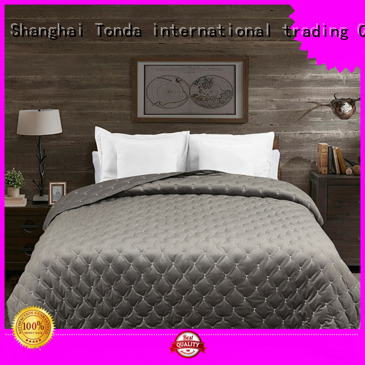TONDA Latest blue and brown coverlet factory for home