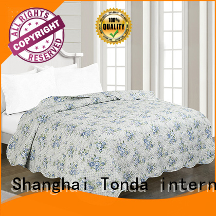 TONDA Wholesale double bed coverlet manufacturers for family